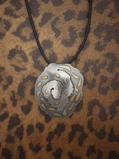 Keum-Boo Spiral Pendant 24K Gold 925 Sterling Silver by BijouNB