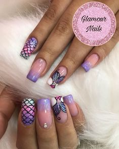 What Christmas manicure to choose for a festive mood - My Nails Nail Art Designs, Girls Nail Designs, Nail Polish Designs, Shellac Nails, My Nails, Acrylic Nails, Girls Nails, Nails For Kids, Vacation Nails