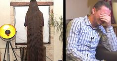 His Wife Refuses To Cut Her Hair, Then She Turns Around To Reveal Its Outrageous Length via LittleThings.com