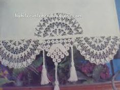dantel perde ucu ile ilgili görsel sonucu Tulle Curtains, Crochet Curtains, Rustic Curtains, Thread Crochet, Crochet Motif, Crochet Lace, Diy And Crafts, Paper Crafts, Linens And Lace