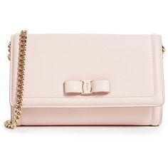 Salvatore Ferragamo Vara Cross Body Mini Bag (44.350 RUB) ❤ liked on Polyvore  featuring bags, handbags, shoulder bags, bonbon, leather shoulder bag, pink  ... 9fba216921