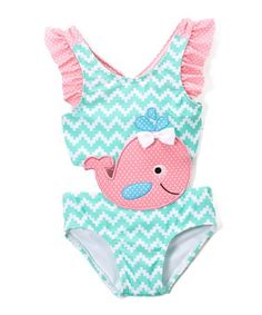 Loving this Blue Summer Whale Connector One-Piece Swimsuit - Infant & Toddler on #zulily! #zulilyfinds