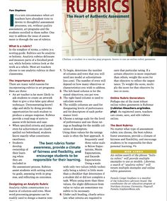 SchoolArts article on developing rubrics.