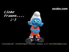 Lustiger Schlumpf - Ein Wort an die Frauen...;-) Zoobe, Animation Animation, Smileys, Emoticon, Mobiles, Smurfs, Youtube, Cocktails, Sweets, Humor