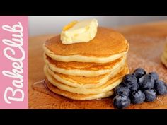 Fluffy Pancakes by BakeClub_official Nutella Chocolate Chip Cookies, Chocolate Cake Mixes, Nutella Brownies, Coconut Pancakes, Homemade Pancakes, Best Vanilla Cupcake Recipe, Cupcake Recipes, Pancake Healthy, Kenwood Cooking