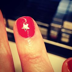 Fun new nail bar at @Saks. They gave me a gold star! #nailsincsaks5a #ShiftforGood