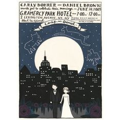 what awesome invites - combining Tim Burton-esque whimsy, and astronomy. Love it.