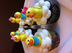 Fondant rubber ducky cupcakes!