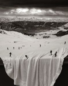 When there is no snow, a sheet will do.