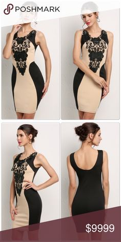 Dresses Style Floral Lace Cocktail Dresses Style Floral Lace Cocktail party, the Material: Cotton Blend + synthetic leather!, It will make you look more slim.  ✅Price is firm unless bundle                                                                                                                             ❌NO TRADES. ❌NO LOWBALL OFFERS Dresses Mini