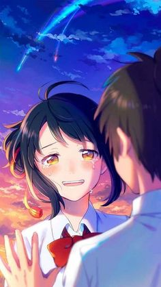 Read Kimi No Nawa from the story Secuil Gambar Anime by Ebikatsoo (udang rebon) with reads. Kimi no Na wa. Otaku Anime, Manga Anime, Anime Kiss, Anime Demon, Art Anime Fille, Anime Art Girl, Anime Love, Animé Romance, Romance Anime