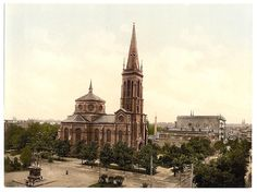 Weltzin Place and St Paul's Church, Bydgoszcz, Old Postcard Germany And Prussia, Tatra Mountains, The Beautiful Country, Warsaw, Germany Travel, Vintage Postcards, Old Photos, Barcelona Cathedral, Poland