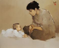 The Mother  by Vietnamese Artist Nguyen Thanh Binh