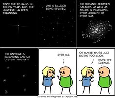Everything is expanding. Cyanide and Happiness.