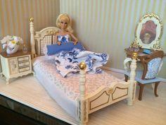 OOAK REALISTIC BARBIE BEDROOM ROOM SET 1:6 SCALE FURNITURE