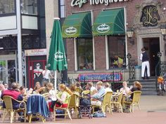 You'll find many cafes with terraces around the city. This one is at the 'Grote Markt'