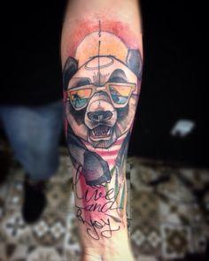 Panda  Instagram lincolnobstattoo #panda #tattoo