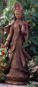 A Kuan Yin statue for the garden - a reminder to always be compassionate.