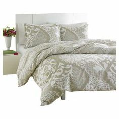 """Subdued by an inviting neutral palette, this chic duvet set showcases an elaborate damask motif.    Product: Twin: 1 Duvet cover and 1 standard shamFull/Queen: 1 Duvet cover and 2 standard shamsKing: 1 Duvet cover and 2 standard shamsConstruction Material: Cotton, 150 thread countColor: Ivory Dimensions: Twin Duvet: 59"""" x 79"""" Full/Queen Duvet: 88"""" x 88""""King Duvet: 88"""" x 104""""Standard Sham: 20"""" x 26"""" eachKing Sham: 20"""" x 36"""" eachNote: Shams do not include inserts"""
