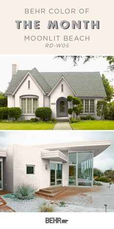 This spring, upgrade your curb appeal with the Behr Paint Color of the Month: Moonlit Beach. This delicate shade of pale pink is a classic neutral hue, making it the perfect pair for traditional and modern design styles alike. Click below for more color inspiration.