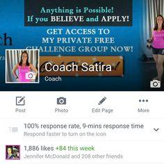 Like Coach Satira on Facebook :)