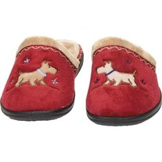 e87fb78eba05 Padders Scotty Dog EE Wide Fitting Washable Slipper Mules - Padders from  Jenny-Wren Footwear UK