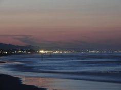 Il mare di notte a Giulianova Lido, in Abruzzo