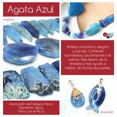 ¡Agata Azul! Las piedras cautivan con su color, brillo y geometría; además…