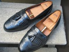 Vintage Bostonian Used Black Leather Dress by VintageClassicWares, $60.00