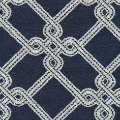 Nautica Trellis Marine by Kasmir Fabric - Fabric Carolina