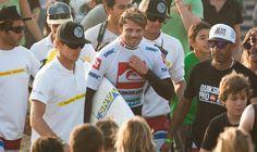 #QUIKSILVER & #ROXY PRO FRANCE 2012 www.worldsurfleague.com  Dane Reynolds (USA) is one happy winning wildcard. ASP/WSL/KellyCestari/WORLD SURF LEAGUE #Quiksilver Pro & #Roxy Pro France 2012  WORLD SURF LEAGUE  www.worldsurfleague.com
