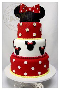 Bolo Minnie - Minnie cake