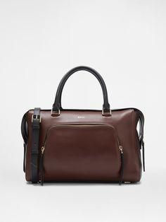 Leather Satchel, OX-B.BRN-BLK