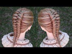 Belleza y Estética Ideas Braided Hairstyles Tutorials, Wig Hairstyles, Long Hair Dos, Brides Maid Hair, Gymnastics Hair, Girls Hairdos, Hair Upstyles, Beautiful Braids, Love Hair
