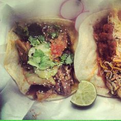Korean BBQ Brisket and Fish Tacos @HolyMoleTacos