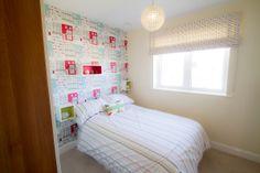 wallpaper-kids-room - Home Decorating Trends - Homedit Kids Room Wallpaper, Bed, Furniture, Home Decor, Stream Bed, Room Decor, Home Interior Design, Bedding, Home Decoration