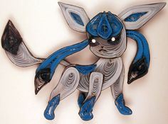 Paper Quilling Glaceon - 471 by wholedwarf on deviantART