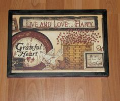 Primitive Country Live and Love Happy Wall decor 9 inches by 13 inches Primitive Wall Decor, Primitive Country, Primitives, Country Living, Love, Frame, Happy, Ideas, Home Decor
