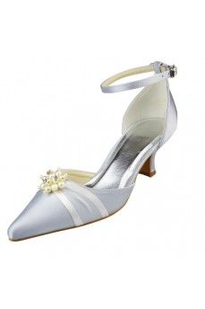 Satin Low Heel, Chunky Heel Closed Toe, Pumps Women's Shoes Silver Wedding Shoes. Grab special discounts up to 70% Off at Abbydress with Discount & Voucher Codes.