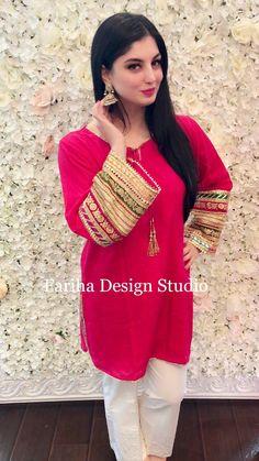 Stylish Dresses For Girls, Simple Dresses, Casual Dresses, Fashion Dresses, Fashion Blouses, Women's Fashion, Formal Dresses, Pakistani Wedding Outfits, Pakistani Dresses Casual