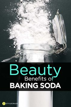 Skin Remedies 20 Beauty Benefits Of Baking Soda you Must Know! - Do you know that baking soda has plenty of beauty applications apart from cooking Beauty Tips For Skin, Natural Beauty Tips, Beauty Secrets, Beauty Skin, Beauty Products, Baking Soda Face, Baking Soda Uses, Baking Soda Shampoo, Honey Shampoo