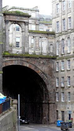 Regent Bridge, & Calton Road. Edinburgh, Scotland.