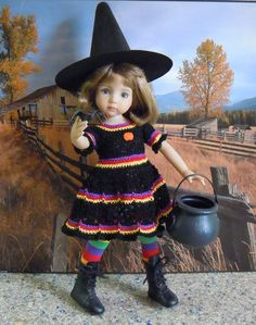 "~* WACKY WITCHIE *~  for 13"" Dianna Effner Studio's Little Darlings Dolls"