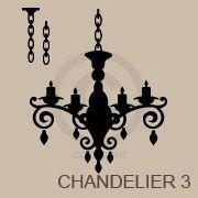 Vinyl decal chandeliers