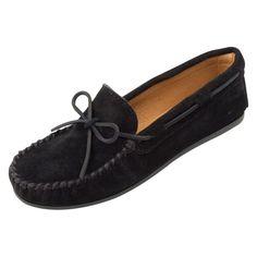 Minnetonka Mens Classic Moccasin Black, Men's, Size: 10.5 Moccasin - 919-BLACK-10.5