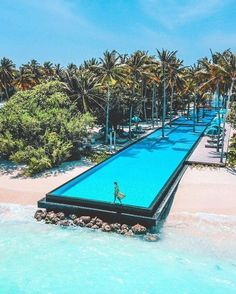 🇬🇧The most beautiful holiday spot in the world, Maldives 🇩🇪Der schönste Ferienort der Welt, Malediven Vacation Places, Best Vacations, Places To Travel, Places To Visit, Travel Destinations, Hotel Swimming Pool, Swimming Pool Designs, Best Swimming Pools, Ubud