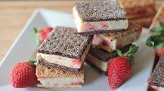 Healthy Ice Cream Sandwich Recipe (Strawberry Banana) All Natural! | Divas Can Cook