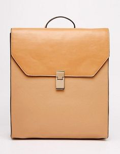 Buy ASOS Clean Boxy Backpack at ASOS. With free delivery and return options (Ts&Cs apply), online shopping has never been so easy. Get the latest trends with ASOS now. Backpack Bags, Leather Backpack, Pale Aesthetic, Asos Online Shopping, Latest Fashion Clothes, Everyday Fashion, Cleaning, Purses, Cream