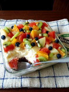 果物たっぷりカスタードババロア