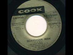 "▶ MIGHTY BOMBER ""Scavenger Man"" Calypso 1959."